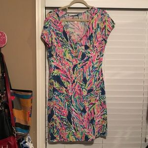 Lilly Pulitzer Palmira Dress in Multi Palm Reader